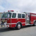 Used 1998 Red Custom Pumper Truck