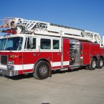 105 foot ladder fire engine