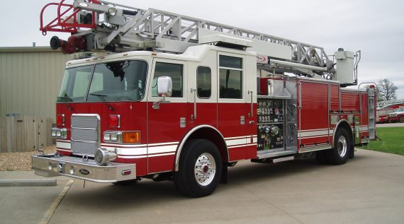 2006 Pierce Enforcer Fire Engine side view