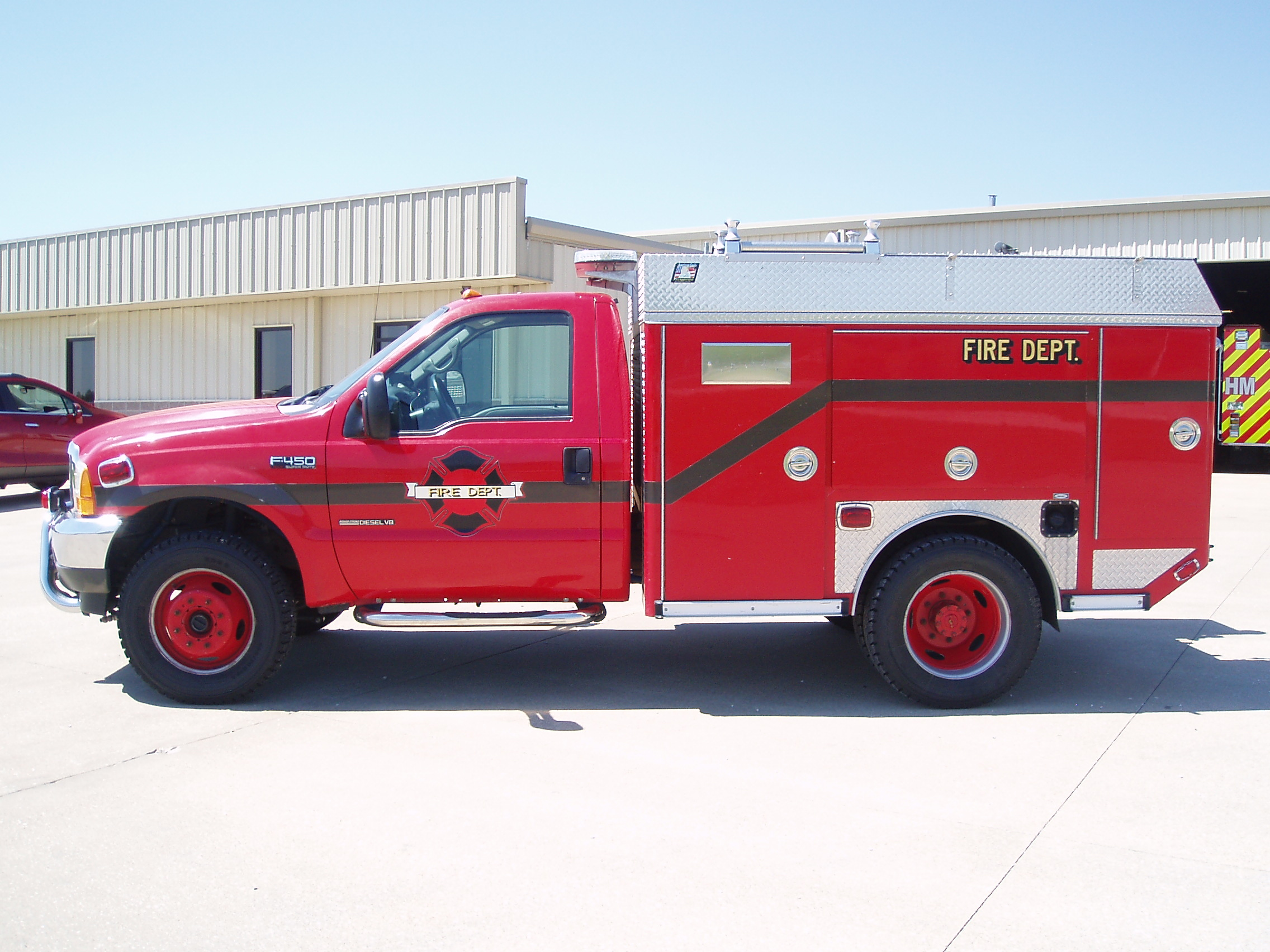 2001 ford f 450 4x4 fire truck type 6 fire engine. Black Bedroom Furniture Sets. Home Design Ideas