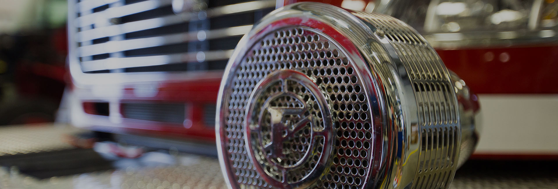 front grill of fire truck
