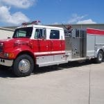 4-door e-one pumper truck