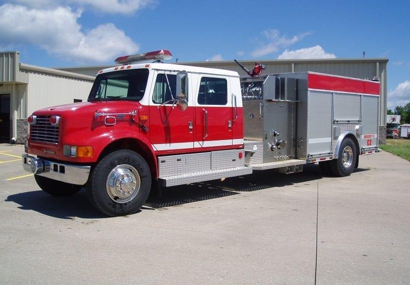 4-door e-one pumper truck