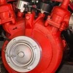 red fire fighting pump