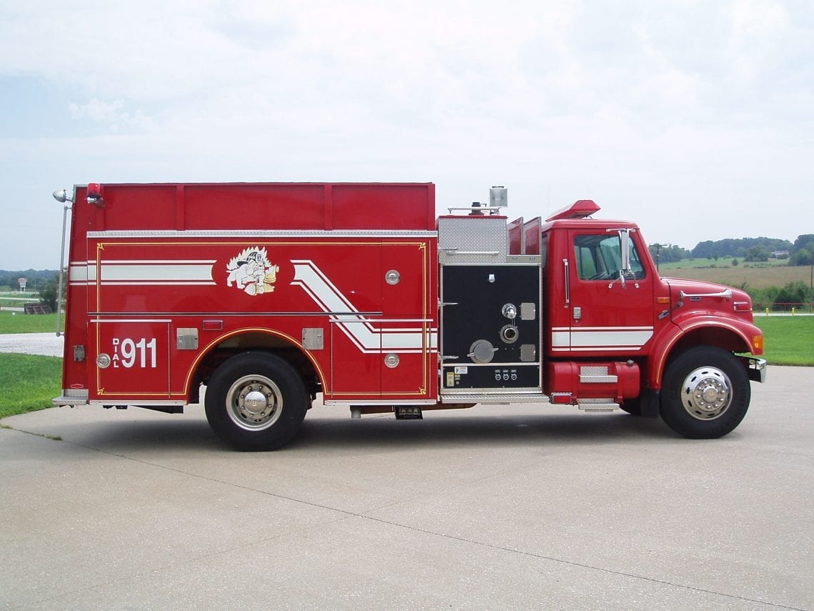 Pierce pumper fire truck